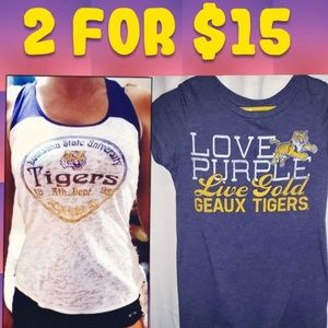 Louisiana Tigers fitted t-shirt and LSU Tank top